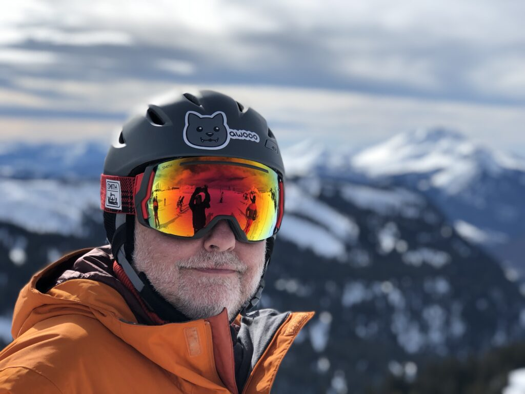 Raoul skiing in Morzine - courtesy Cameron Jeffrey